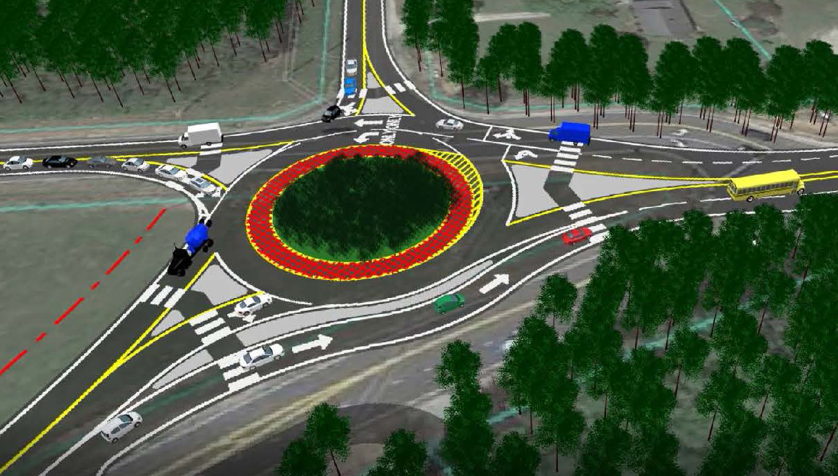 White Oak roundabout