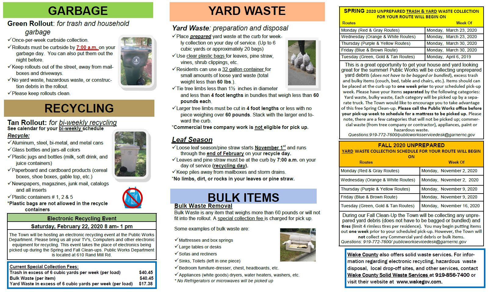 2020 Solid Waste Brochure